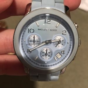 Michael Kors baby blue watch